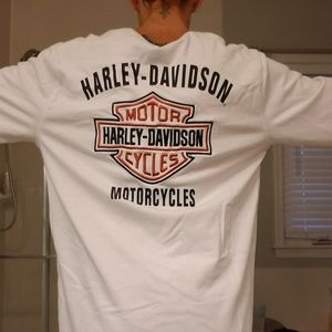H-D LS Heavyweight Embroidered tee Sz M